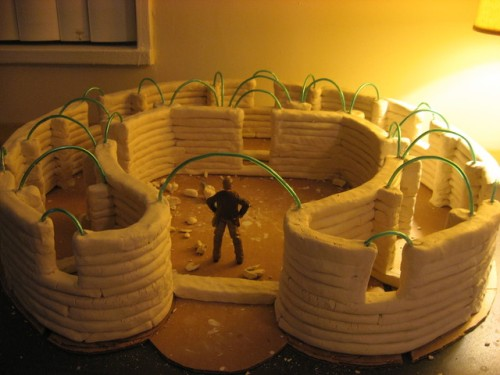 Clay Model of Earthbag Dome