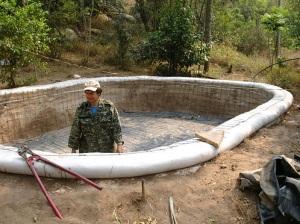 Superadobe Cistern