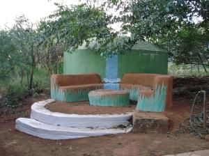 Superadobe Water Catchment
