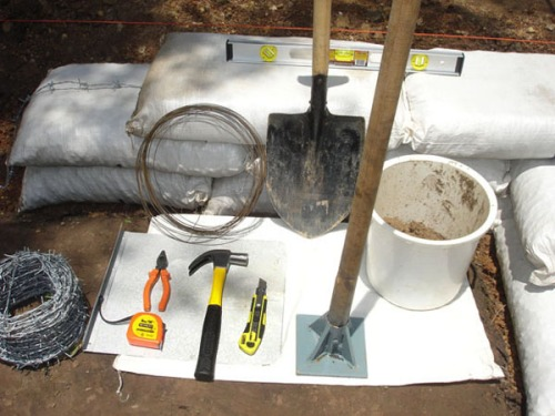 These are the earthbag building tools I use.