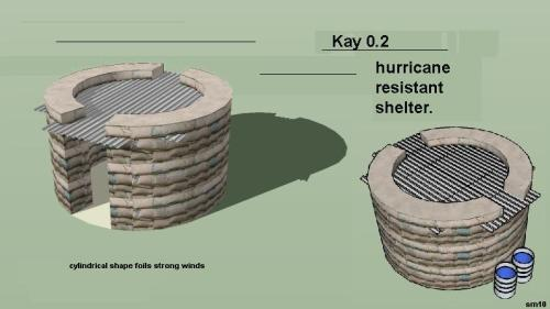Cylindrical Earthbag Shelters