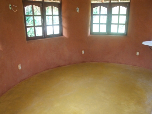 Concrete Floor and Earthen Plaster