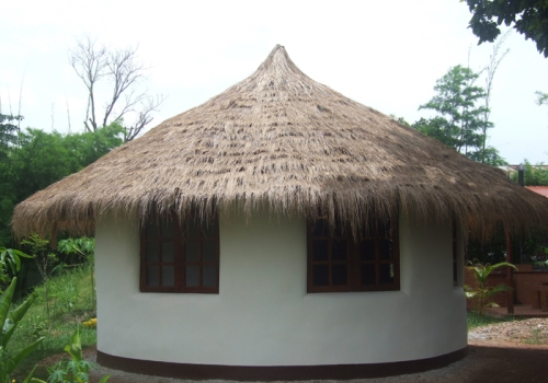 Earthbag Roundhouse - Exterior View