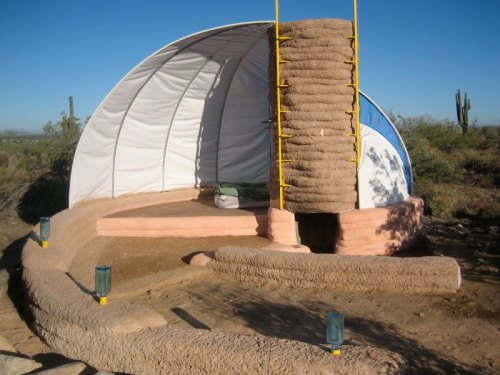 Helical Earthbag Shelter