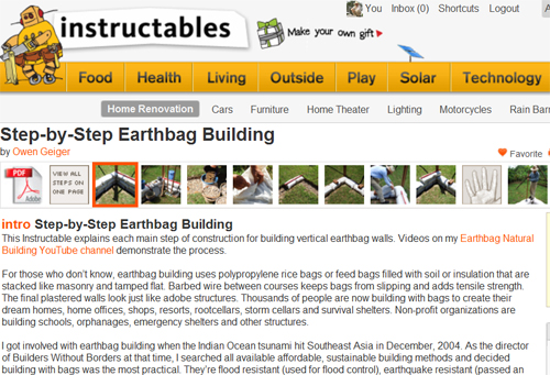 Earthbag Instructable