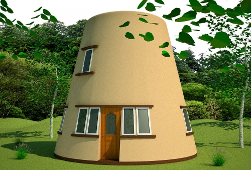 Earthbag Tower House (click to enlarge)