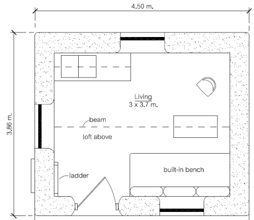 $300 Earthbag House (click to enlarge)