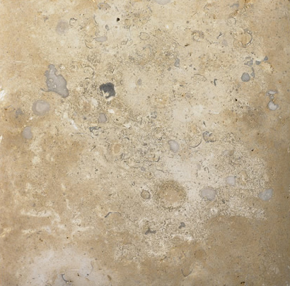 Geopolymer pavers would look similar to this limestone tile.