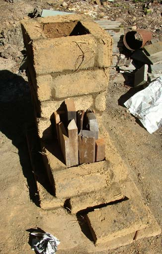 Adobe rocket stove
