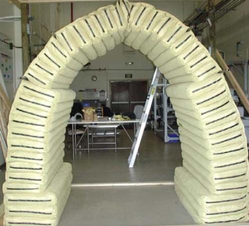 Lightweight insulated earthbag vault