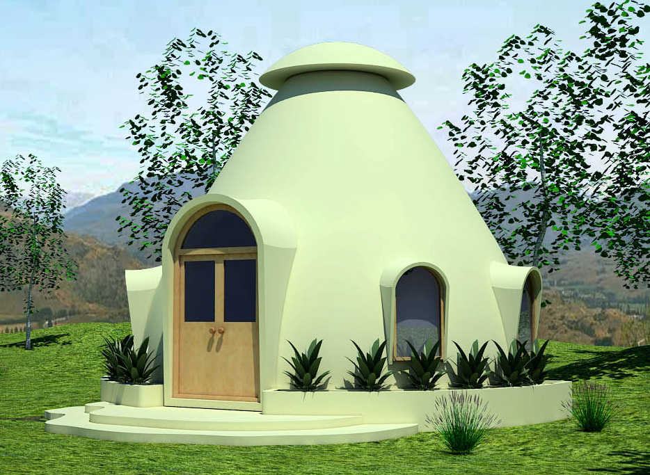 Mindfulness project insulated earthbag domes natural for Ferrocement house plans