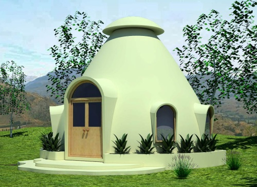 Mindfulness Project Insulated Earthbag Domes (click to enlarge)
