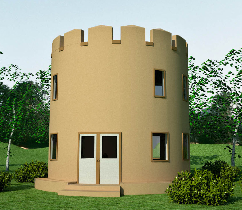 Castle design earthbag house plans for Small castle house plans