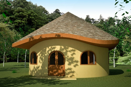 Hobbit House with Wood Shingles (click to enlarge)