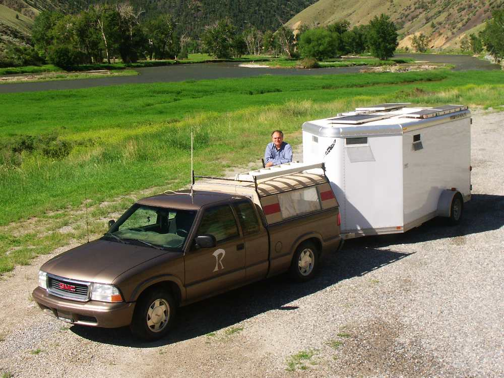 Mobile Kodgers: I now live in this specially engineered cargo trailer with the unique quality of being invisible so that I can camp almost anywhere unmolested.