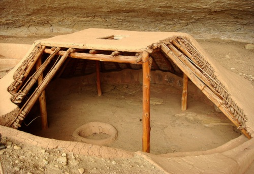 Traditional pit house at Mesa Verde