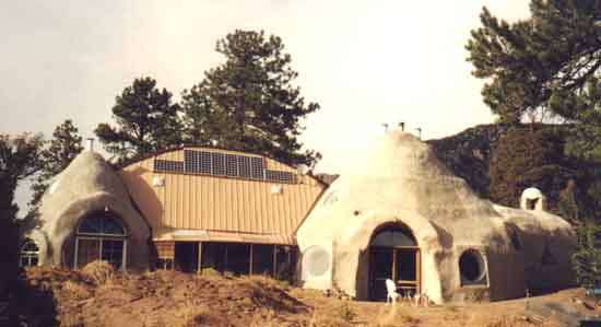 Hart house in Colorado made with scoria-filled earthbags