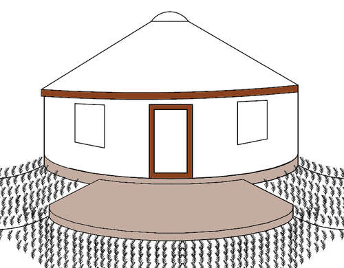 Earthbags make great insulated foundations and platforms for yurts.