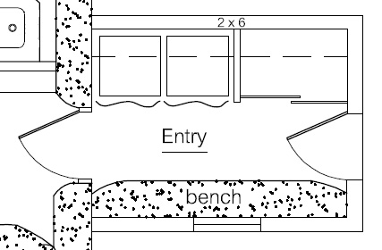 Airlock entries improve energy efficiency