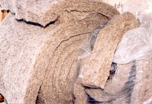 Wool insulation is available as wool rope or batts.