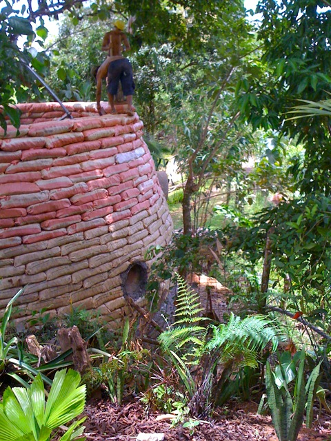 """Earthship Costa Rica wants to """"demonstrate and inspire a move from egocentric to ecocentric buildings."""""""