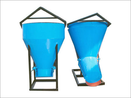 Fill material for earthbag tubes could be supplied with a crane and banana bucket.