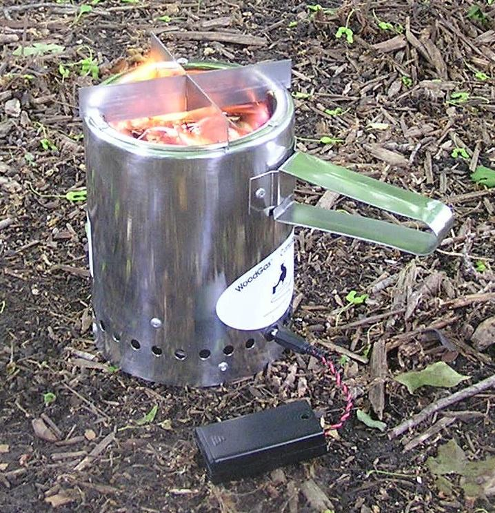 stove for camping. woodgas cooking stove for camping