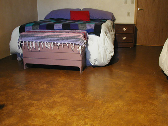 Poured Adobe Floor With Clay Alis Highlights And Boiled Linseed Oil Finish.