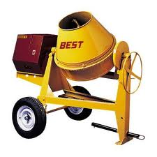 Cement mixers can greatly reduce labor and speed construction.