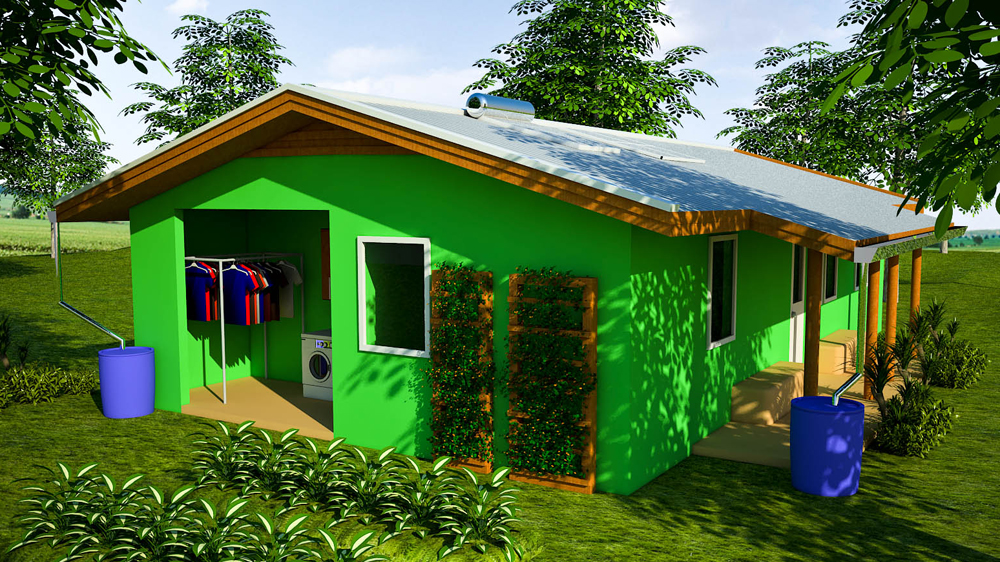 Craftsman Bamboo And Plastic Bottle House (click To Enlarge)