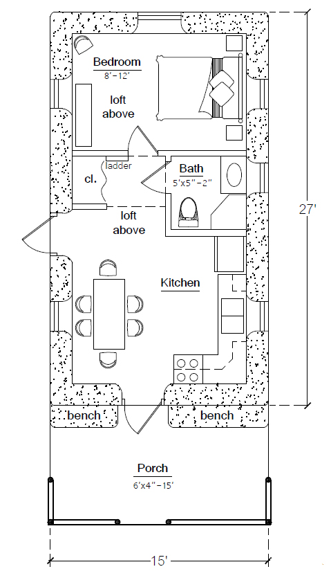 hnc earthbag house floorplan click to enlarge - Rectangle House Plans
