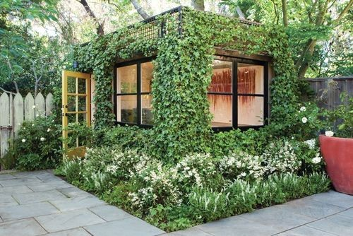 JetsonGreen.com garden shed/studio with living walls