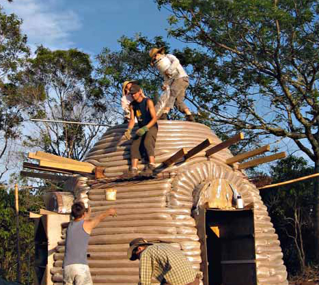 Rob Wainwright's roofed dome in Australia
