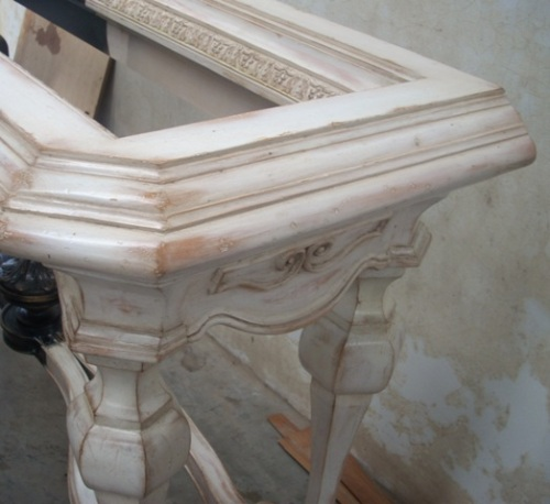 Old world style furniture with wipe off antique finish