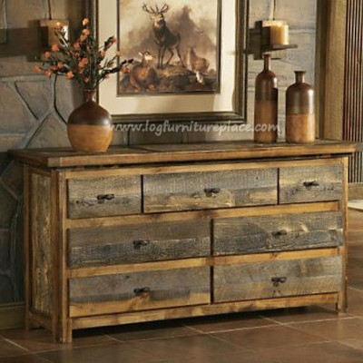 Dresser made from free barnwood by Log Furniture Place.com
