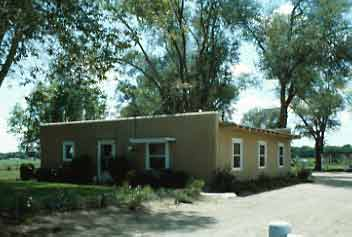 Adobe house built in bosque farms new mexico during the 1930s as
