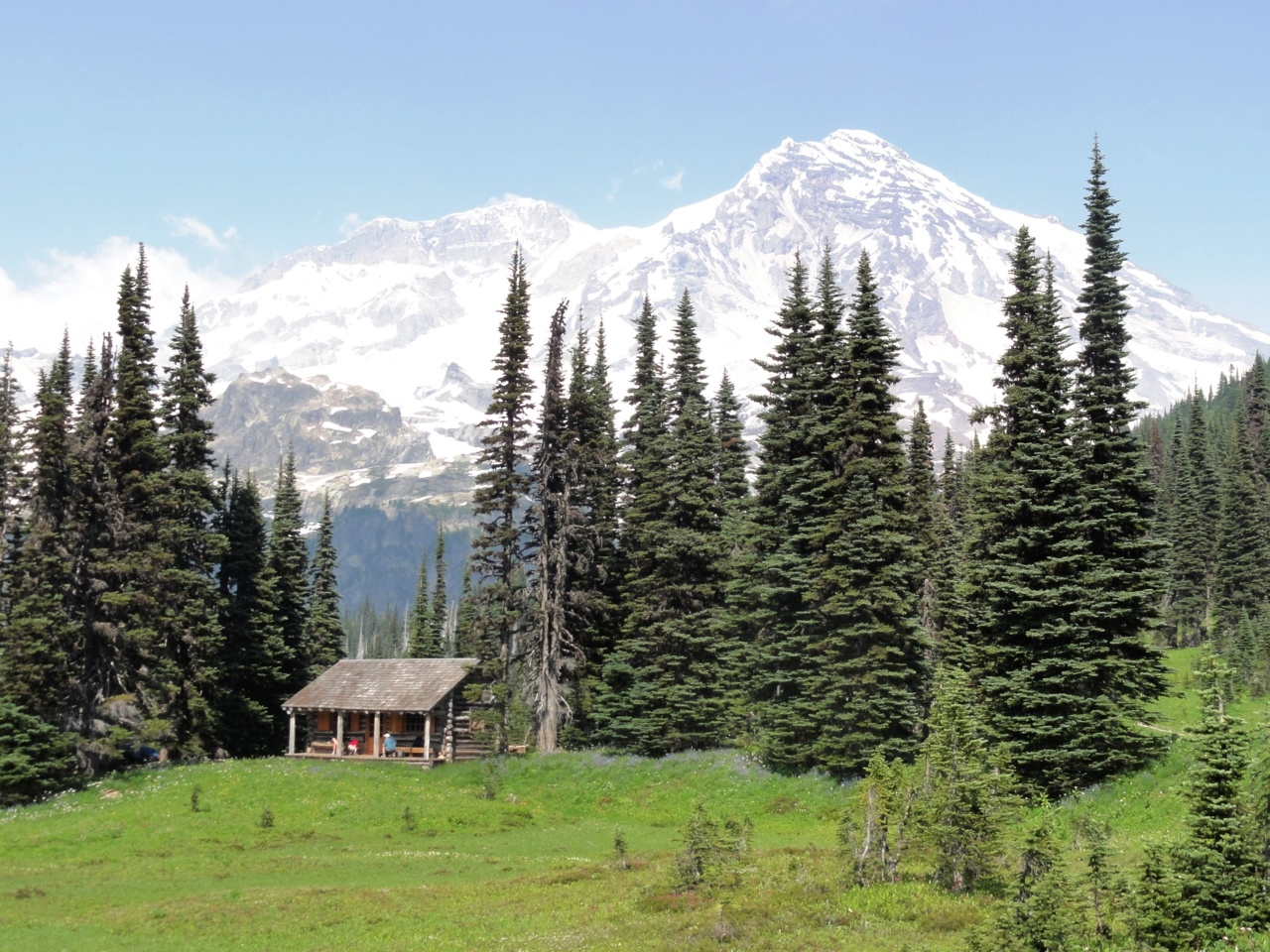 Ranger's cabin, Indian Henry meadows, in Mt. Rainier National Park, Washington, USA. Submitted by Eric Nagle. (click to enlarge)