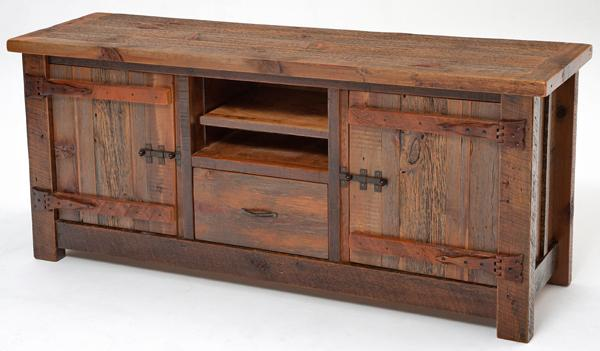 reclaimed wood entertainment center by woodland creek furniture