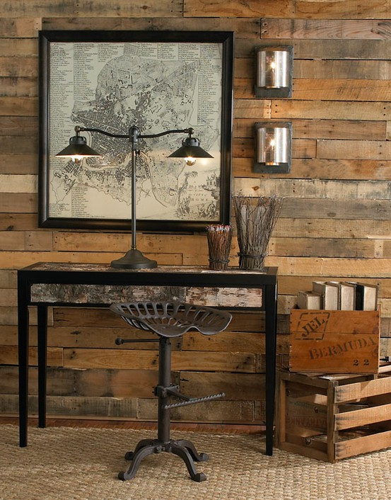 Salvaged pallet wall