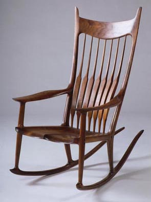 Walnut rocking chair by Sam Maloof