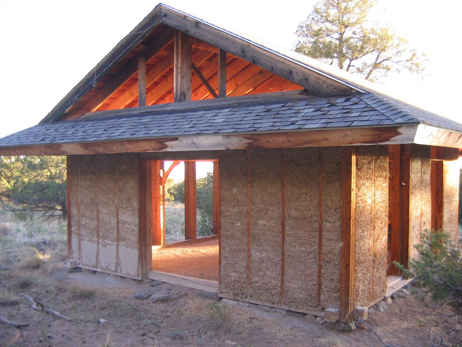 Timberframe and straw clay house in crestone colorado click to enlarge