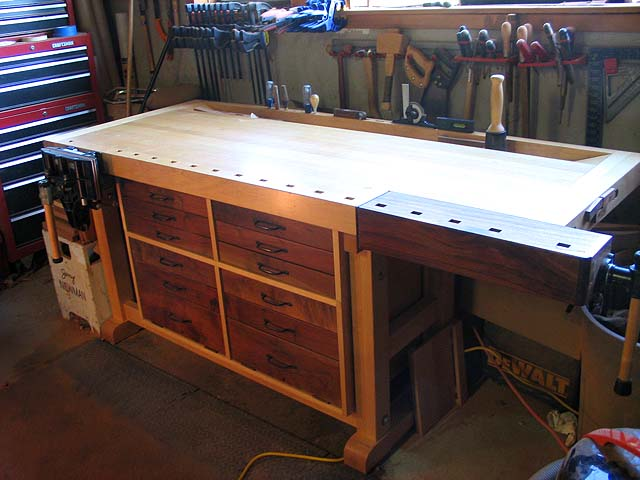 fine woodworking workbench plans