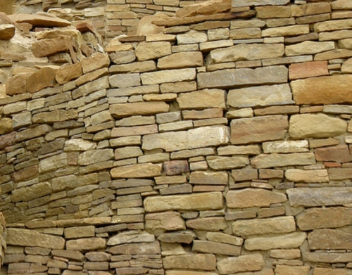Anasazi stonework at Chaco Canyon