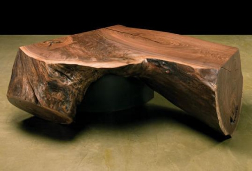 Black walnut tree trunk side table