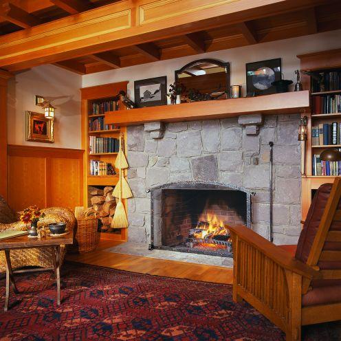 fireplace built in shelf plans