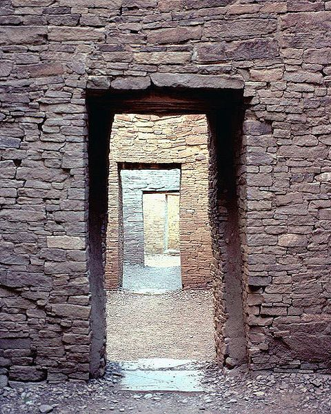 Doorways, Pueblo Bonito in Chaco Canyon, New Mexico