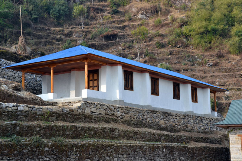Finished Earthbag School In Nepal Natural Building Blog