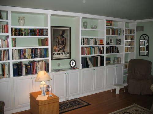 built in bookshelf design plans