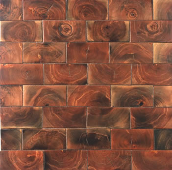 End grain hardwood flooring is known for it's unique grain patterns and superior hardness