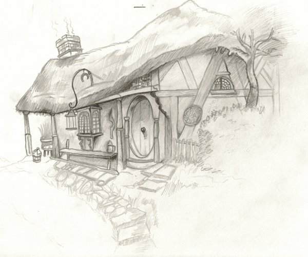 Hobbit House sketch